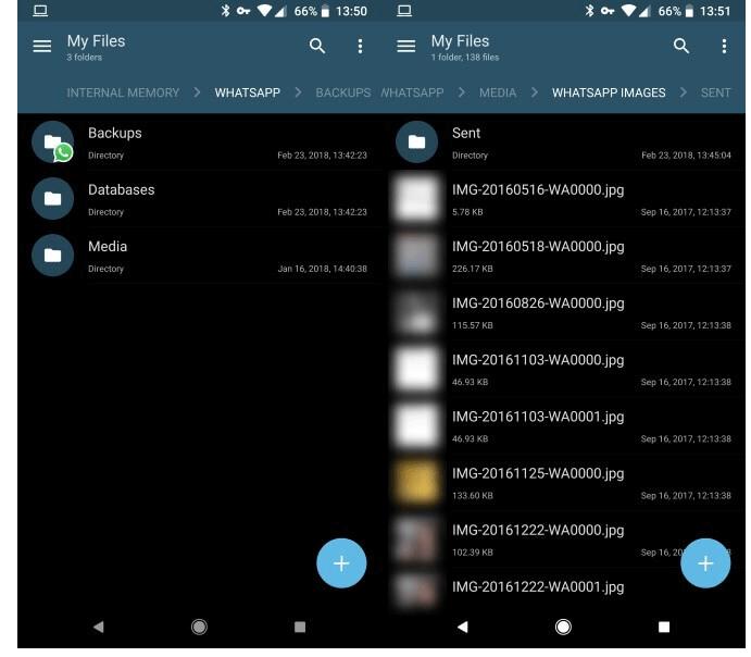 phone Whatsapp memory
