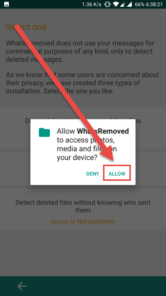 allow access to the notifications