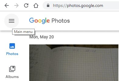 google photo trash